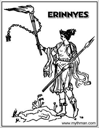 myth man s furies page Atlas Greek God